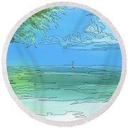 Keywest Vision Round Beach Towel