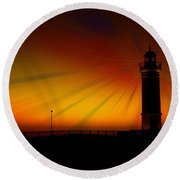 Kiama Lighthouse Round Beach Towel by Trena Mara