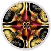 Kidney Stones Round Beach Towel by Jim Pavelle