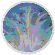 Kids Art  Fun And Funny Round Beach Towel by Sherri's Of Palm Springs