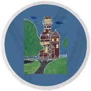 Kiel Germany Lighthouse. Round Beach Towel