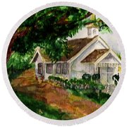 Kihei Chapel Round Beach Towel by Eric Samuelson