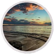 Kihei, Maui Sunset Round Beach Towel