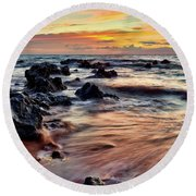 Kihei Sunset Round Beach Towel