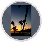 Kihei Sunset Round Beach Towel
