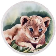 Kijani The Lion Cub Round Beach Towel