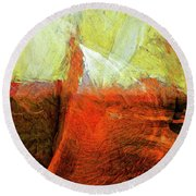 Round Beach Towel featuring the painting Kilauea by Dominic Piperata