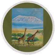 Kilimandjaro Round Beach Towel