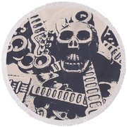 Kill The Music Industry Round Beach Towel