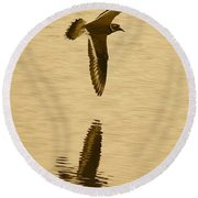 Killdeer Over The Pond Round Beach Towel by Carol Groenen