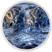 Round Beach Towel featuring the photograph Killer Instinct by Mark Andrew Thomas