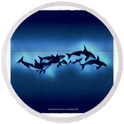 Killer Pod Round Beach Towel