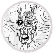 Killer Robot Round Beach Towel