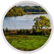 Killone Lake In County Clare, Ireland Round Beach Towel