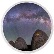 Kilns Under The Milky Way Round Beach Towel