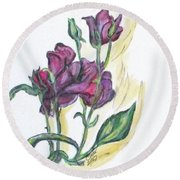 Kimberly's Spring Flower Round Beach Towel by Clyde J Kell
