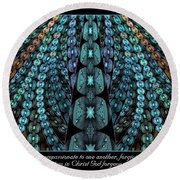 Kind And Compassionate Round Beach Towel