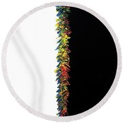 Round Beach Towel featuring the painting Kindergarten  by Robbie Masso