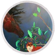 Kindred Spirits Round Beach Towel