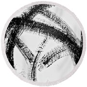 Kinetic Energy Round Beach Towel