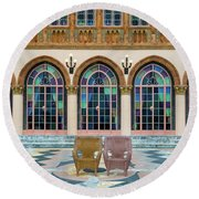 King And Queens Chairs Round Beach Towel