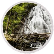 Crabtree Falls - Blue Ridge Parkway North Carolina Round Beach Towel