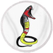 King Cobra Round Beach Towel