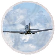 King Cobra Departing - 2017 Christopher Buff, Www.aviationbuff.c Round Beach Towel