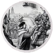 King Henry Vii Round Beach Towel by Pat Nicolle