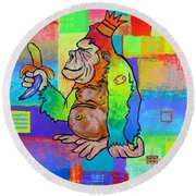 King Konrad The Monkey Round Beach Towel