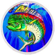 King Mahi-mahi Round Beach Towel