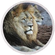 King N Queen Round Beach Towel