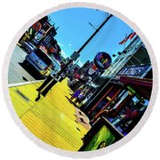 King Of Beale Round Beach Towel
