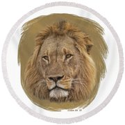 King Of Beasts 6 Round Beach Towel