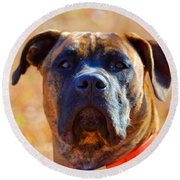 King Of My Home Round Beach Towel