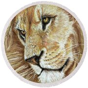 King Of The Jungle Round Beach Towel by Heidi Kriel