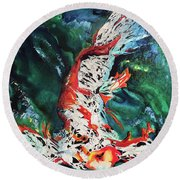 King Of The Pond Round Beach Towel