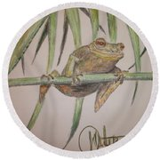 King Of The Reed Round Beach Towel