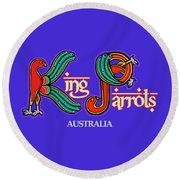 King Parrots Australia Round Beach Towel