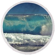King Tide Wave Round Beach Towel