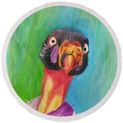 King Vulture  Round Beach Towel