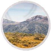 King William Range. Australia Mountain Panorama Round Beach Towel