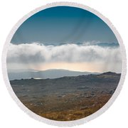 Round Beach Towel featuring the photograph Kingdom In The Sky by Gary Eason