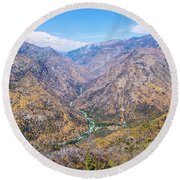 King's Canyon  Round Beach Towel