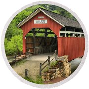 Kings Covered Bridge Somerset Pa Round Beach Towel