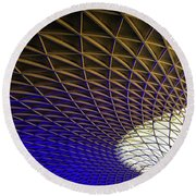 Kings Cross Railway Station Roof Round Beach Towel