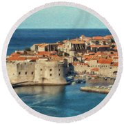 Kings Landing Dubrovnik Croatia - Dwp512798 Round Beach Towel