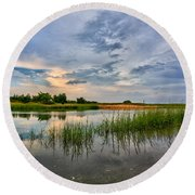 Kings Park Bluffs Round Beach Towel