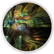 Round Beach Towel featuring the digital art Kings Ransom by NirvanaBlues