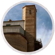 Round Beach Towel featuring the photograph Kingscote Castle by Stephen Mitchell